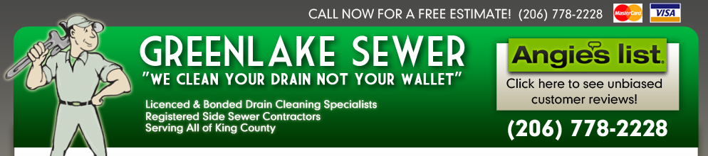 Greenlake Sewer Call 206 778 2228 For A Free Estimate